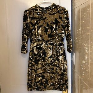 Zara Sequin Holiday Party Dress